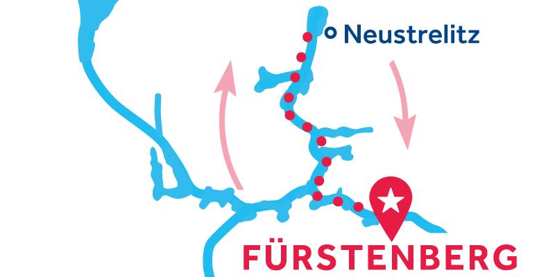 Fürstenberg HEEN EN TERUG via Neustrelitz