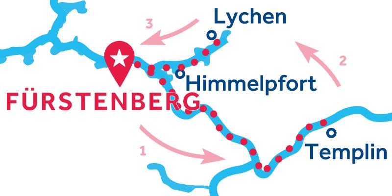 Fürstenberg HEEN EN TERUG via Templin