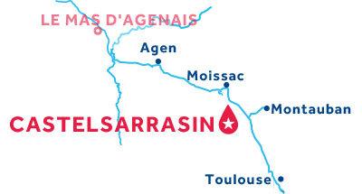 Kaart van de basis in Castelsarrasin