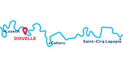 Kaart van de basis in Douelle