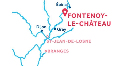 Kaart van de basis in Fontenoy-le-Château
