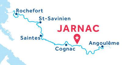 Kaart van de basis in Jarnac