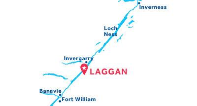 Kaart van de basis in Laggan