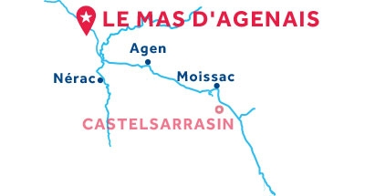Kaart van de basis in Le Mas d'Agenais