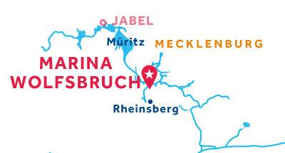 Kaart van de basis in Marina Wolfsbruch