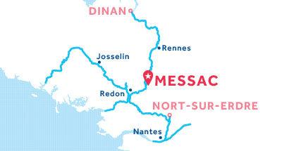 Kaart van de basis in Messac
