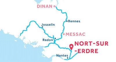 Kaart van de basis in Nort-sur-Erdre