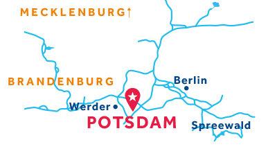 Kaart van de basis in Potsdam
