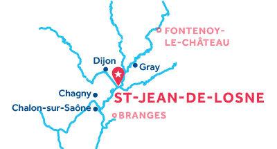 Kaart van de basis in Saint-Jean-de-Losne