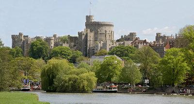 Windsor vanaf de rivier Theems