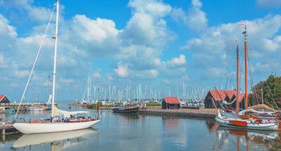 Boats on a Dutch lake