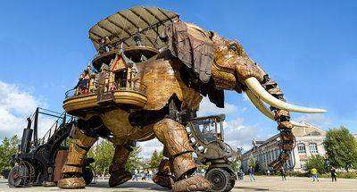 Mechanische olifant in Nantes