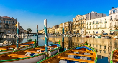 De prachtige kanalen van Sète
