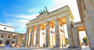 De historische bogen van de Brandenburger Poort