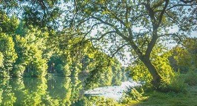 Zonnig morgen op de Charente