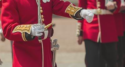 Soldaat van hete Britse garderegiment