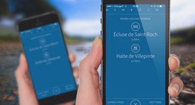 Le Boat App tijdens uw vaart