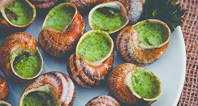 Slakken in knofooksaus