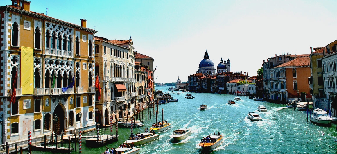 Het charmante Grand Canal in Venetië