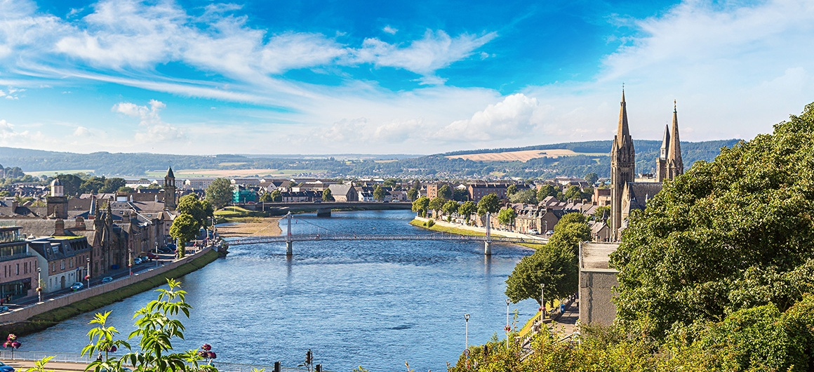 Stadsbeeld van Inverness, Schotland