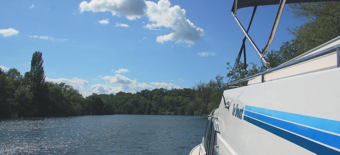 Le Boat Boot aan de Lot
