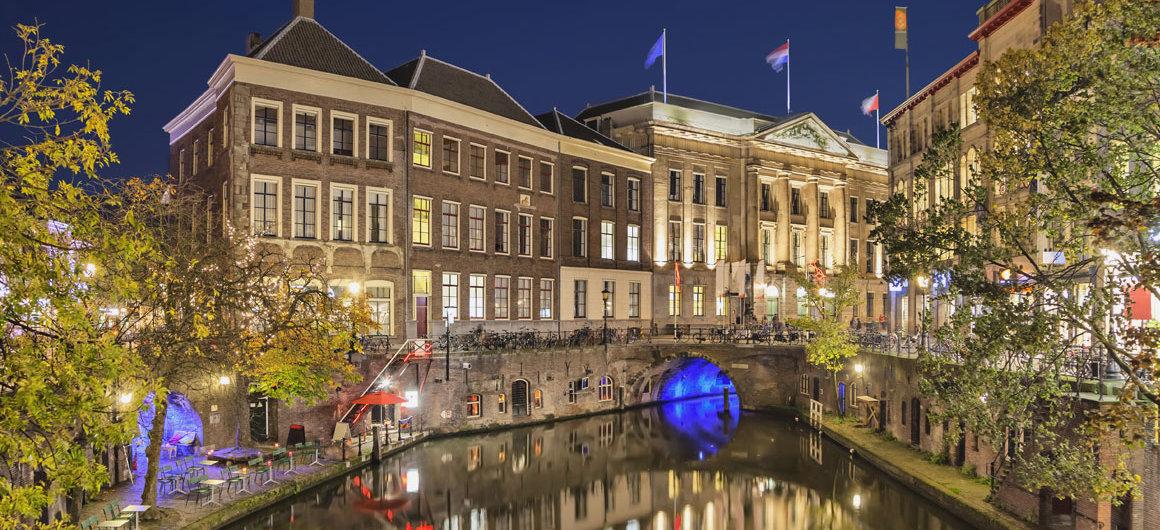 Gracht in Utrecht, 's nachts