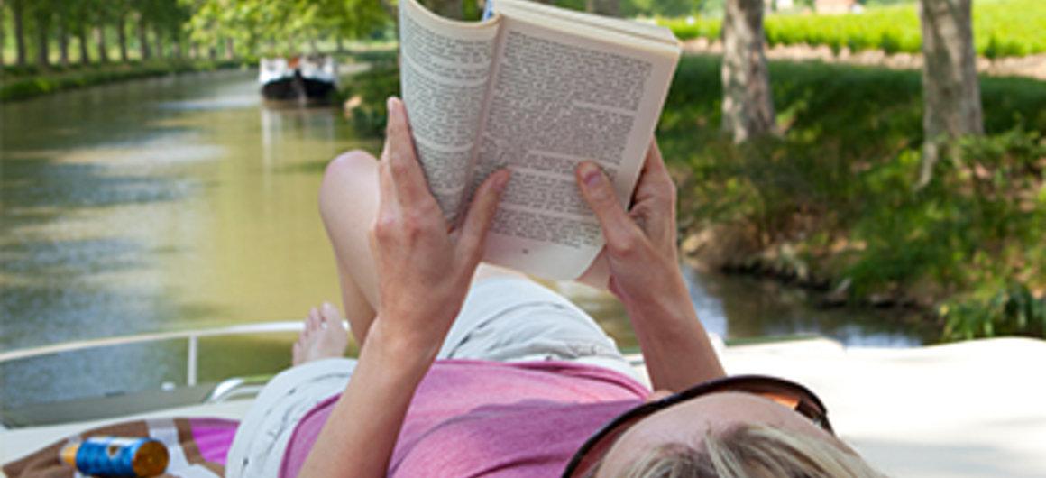 Lezen op de rivier