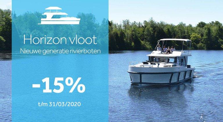 -15% aan boord van de Horizon