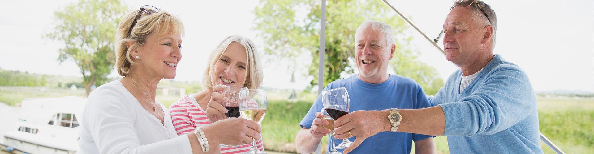 Wijn aan het Canal du Midi