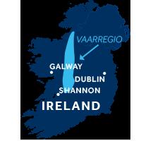 Kaart met Shannon & Erne in Ierland