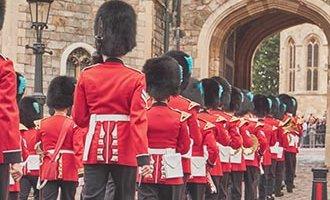 Koninklijke wachten marcheren in Windsor